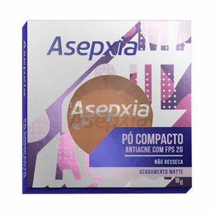 Asepxia Po Compacto Antiacne Bege Escuro Matte FPS 20 10g