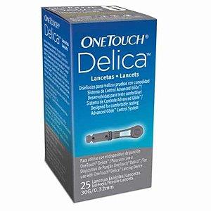 Lancetas OneTouch Delica Select Plus c/25 unidades
