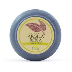 Sabonete Argila Roxa 110g Derma Clean