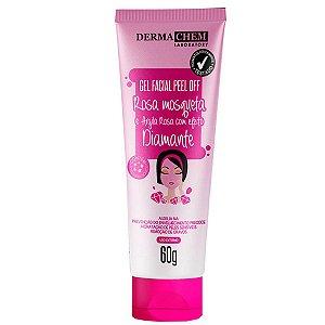 Gel Facial Peel Off Rosa Mosqueta e Argila Rosa 60GDermaChem