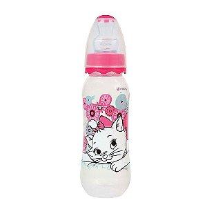 Mamadeira BabyGo Bico Orto 240mL I'm a Cat (Rosa)