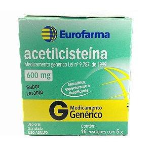ACETILCISTEINA 600MG 16 ENV (eurofarma)