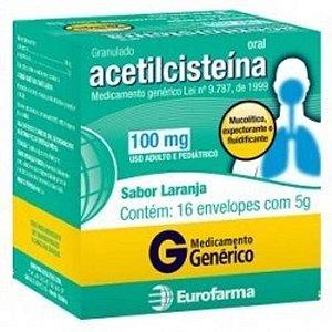 ACETILCISTEINA 100MG 16 SACHES Eurofarma