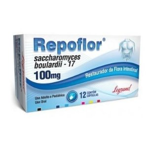 Saccharomyces 100MG 12CPR - REPOFLOR
