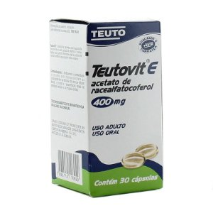 Vitamina E - Teutovit E 400 mg com 30 Cápsulas