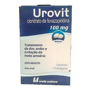 Fenazopiridina - UROVIT 100mg 25drg - União Química