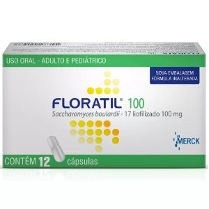 FLORATIL 100mg com 12 cápsulas - Merck