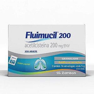 Acetilcisteina - FLUIMUCIL 200MG 16ENV ( po granulado)