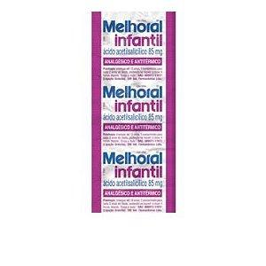 Ácido Acetilsalicilico - MELHORAL INF 8cpr