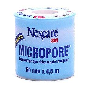 Fita Micropore 3M Nexcare Branca 50mm X 4,5m
