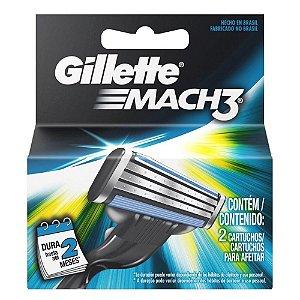Carga gilette Mach 3 com  2 unidades