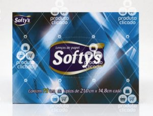 Lenço De Papel Softys c/ 75 Folhas