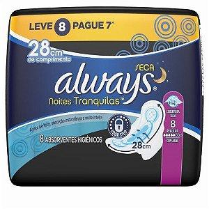 Abs  Always Noturno Seca  28cm c/ abas c/ 8