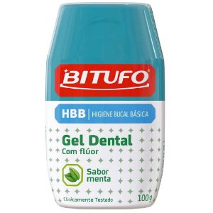 Gel Dental Menta c/ fluor 100gr - Bitufo