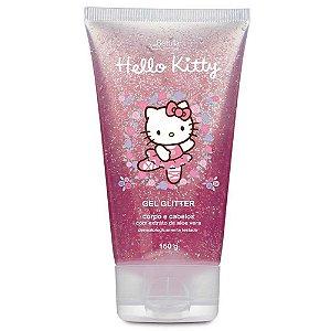 Gel Infantil Cabelo e Corpo Glitter Hello Kitty 180gr