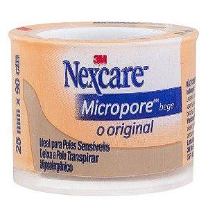 Fita Esparadrapo Micropore 3M 25mm X 90cm Bege