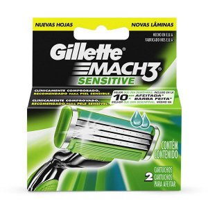 Carga Gillette Mach 3 Sensitive 2un