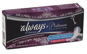 Abs  Always Diária  Platinum invisicel c/ 20