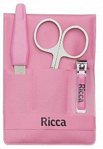 Kit Manicure Infantil Ricca Baby Ref:742 (Rosa/ Azul)