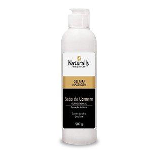 Naturally Gel para Massagem Sebo de Carneiro 200grs