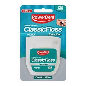 Fio Dental ClassicFloss Extra Fino Menta 125 Metros