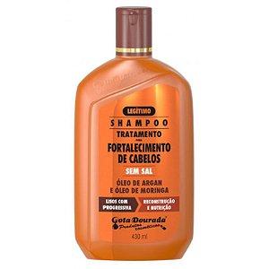 Shampoo Óleo de Argan e Moringa 430ml - Gota Dourada