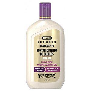 Shampoo Liss Crystal Liso Natural 430 ML - Gota Dourada