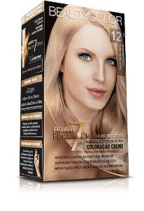 Tintura Beauty Color Kit 12.1 Louro Mto Claro Cinza Especial