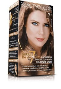 Tintura Beauty Color Kit Nova 7.0 Louro Natural