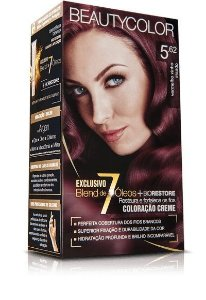 Tintura Beauty Color Kit Nova 5.62 Vermalho Vinho Irisado