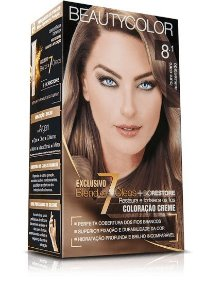 Tintura Beauty Color Kit Nova 8.1 Louro Claro Acinzentado