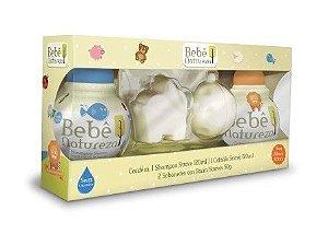 Kit Bebê Natureza (Shampoo+Colônia+2 Sabonetes)