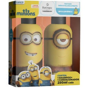 KIT Infantil MINIONS Shampoo 250ml +Condicionador 250ml