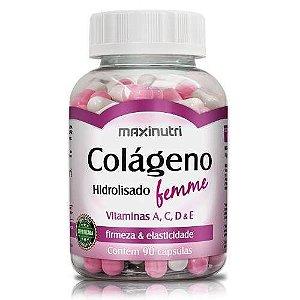 Colágeno Femme Vit A,C,D e E  90cps - Maxinutri