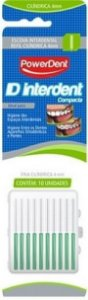 Escova Powerdent Interdental Cilindrica Fina 4 mm Verde