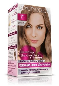 Tintura Beauty Color Sem Amônia 7.1 Louro Natural Acinzent.