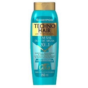 Shampoo Techno Hair sem sal Óleo de Argan 250mL