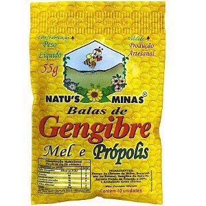 Bala de GengibreMel e Própolis Natu's Minas 55g