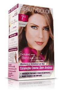 Tintura Beauty Color Sem Amônia 7.0 Louro Natural