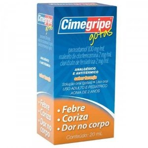 PARACETAMOL+ ASS - CIMEGRIPE GOTAS 20ml - CIMED
