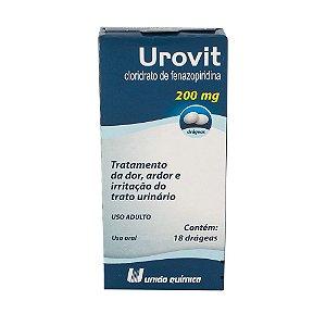 Fenazopiridina - UROVIT 200MG 18drg - União Química