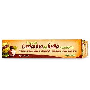 CREME DE CASTANHA DA INDIA 60G - ARTE NATIVA