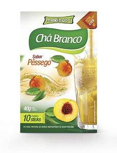 Chá Branco Sabor Pessego Maxinutri c/10 Sticks