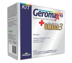 GEROMAX H3 30cpr + OMEGA3 30cps - Naturelife