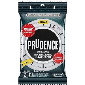 Preservativo Prudence Sensações Texturizado Retardante 3 Uni