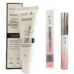 kit Serum Facial e Labial Vult Acido Hialuronico