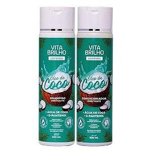 Kit Vita Brilho Oleo de Coco Shampoo e Condicionador