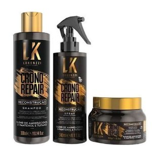 Kit Lokenzzi Crono Repair Reconstrução (Sh Spray e Máscara)