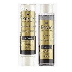 Kit Revie Detox Micelar Shampoo e Condicionador 350ml