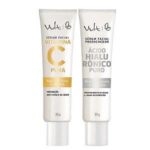 Kit Vult Sérum Facial Vitamina C Pura e Ácido Hialurónico
